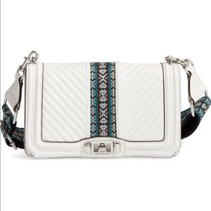 BRAND NEW Rebecca Minkoff Love Jacquard Crossbody